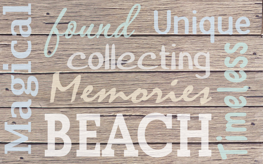 Wood Frames - Beach - Words - Beach 1