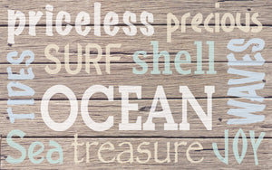 Wood Frames - Beach - Words - Beach 2