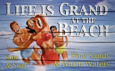 Wood Frames - Beach - Life Is Grand