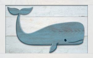 Wood Frames - Beach - Whale