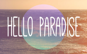 Wood Frames - Beach - Hello Paradise