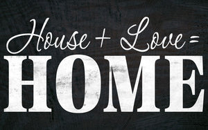 Wood Frames - Decor - House + Love = Home