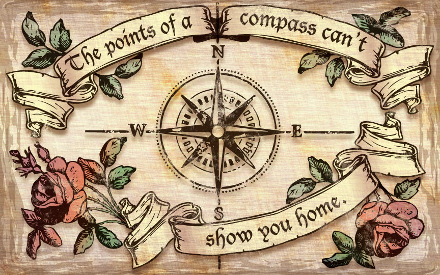 Wood Frames - Decor - Points Of Compass