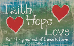 Wood Frames - Faith - Faith Hope Love