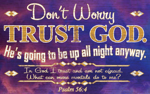 Wood Frames - Faith - Trust God