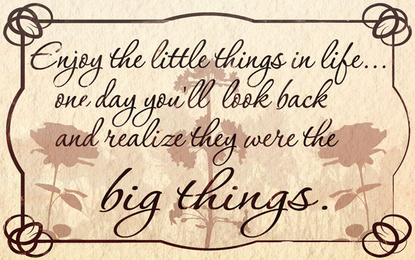 Wood Frames - Inspirational - Little Things