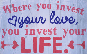 Wood Frames - Inspirational - Invest Love