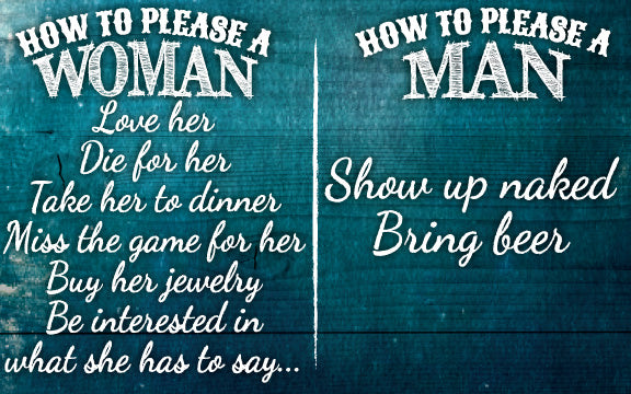 Wood Frames - Humor - How To Please A Man