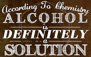 Wood Frames - Humor - Alcohol Solution