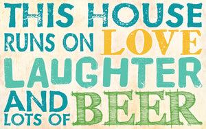 Wood Frames - Humor - Love Laughter Beer