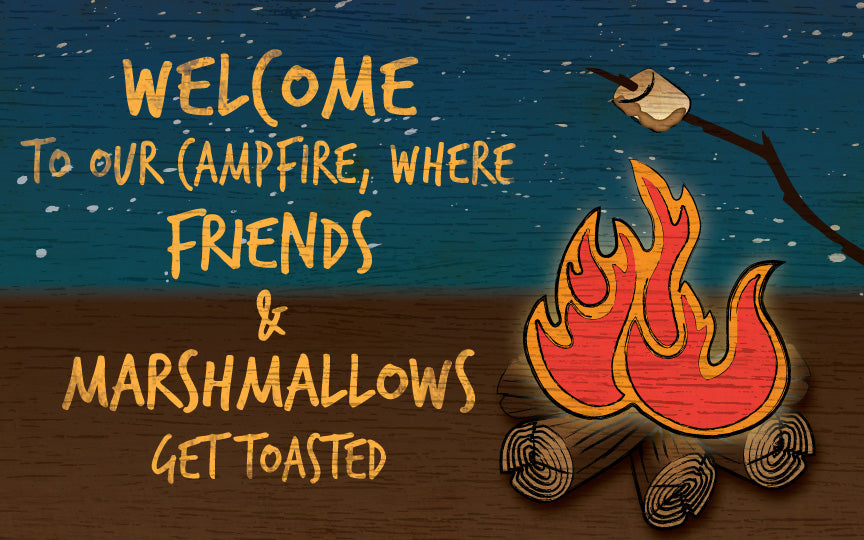 Wood Frames - Outdoor - Welcome To Our Campfire
