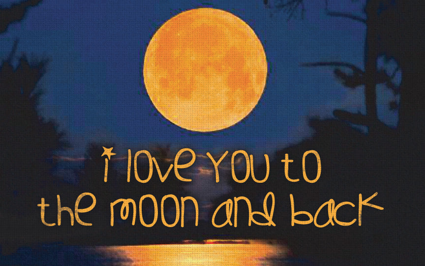 Wood Frames - Outdoor - I Love You To Moon