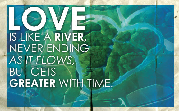 Wood Frames - Outdoor - Love Is Like A River