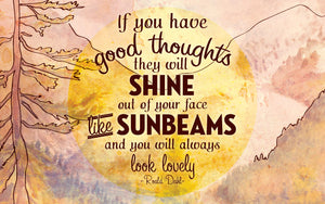 Wood Frames - Outdoor - Good Thoughts Shine Like Sunbeams