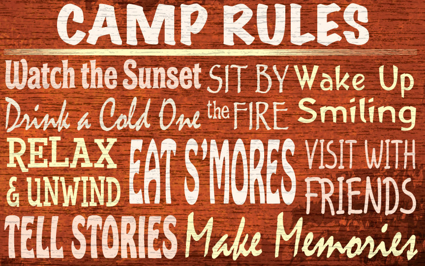 Wood Frames - Outdoor - Camp Rules