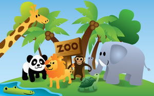 Wood Frames - Zoo - Zoo Animals