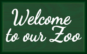 Wood Frames - Zoo - Welcome To Our Zoo