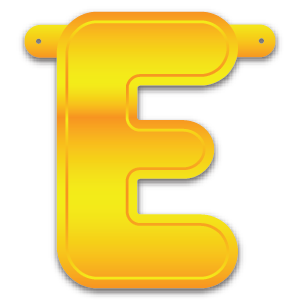 Build-A-Giant-Banner Letter E