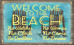 Wood Frames - Beach - welcome to the Beach 3