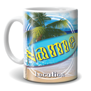 Mug - Surfboard and Palm Tree