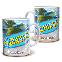 Load image into Gallery viewer, Mug - Surfboard and Palm Tree
