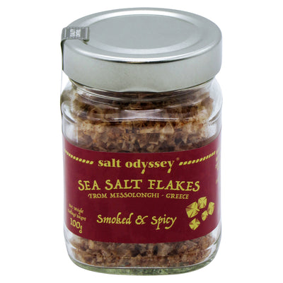 Sea salt flakes smoked and spicy 100g