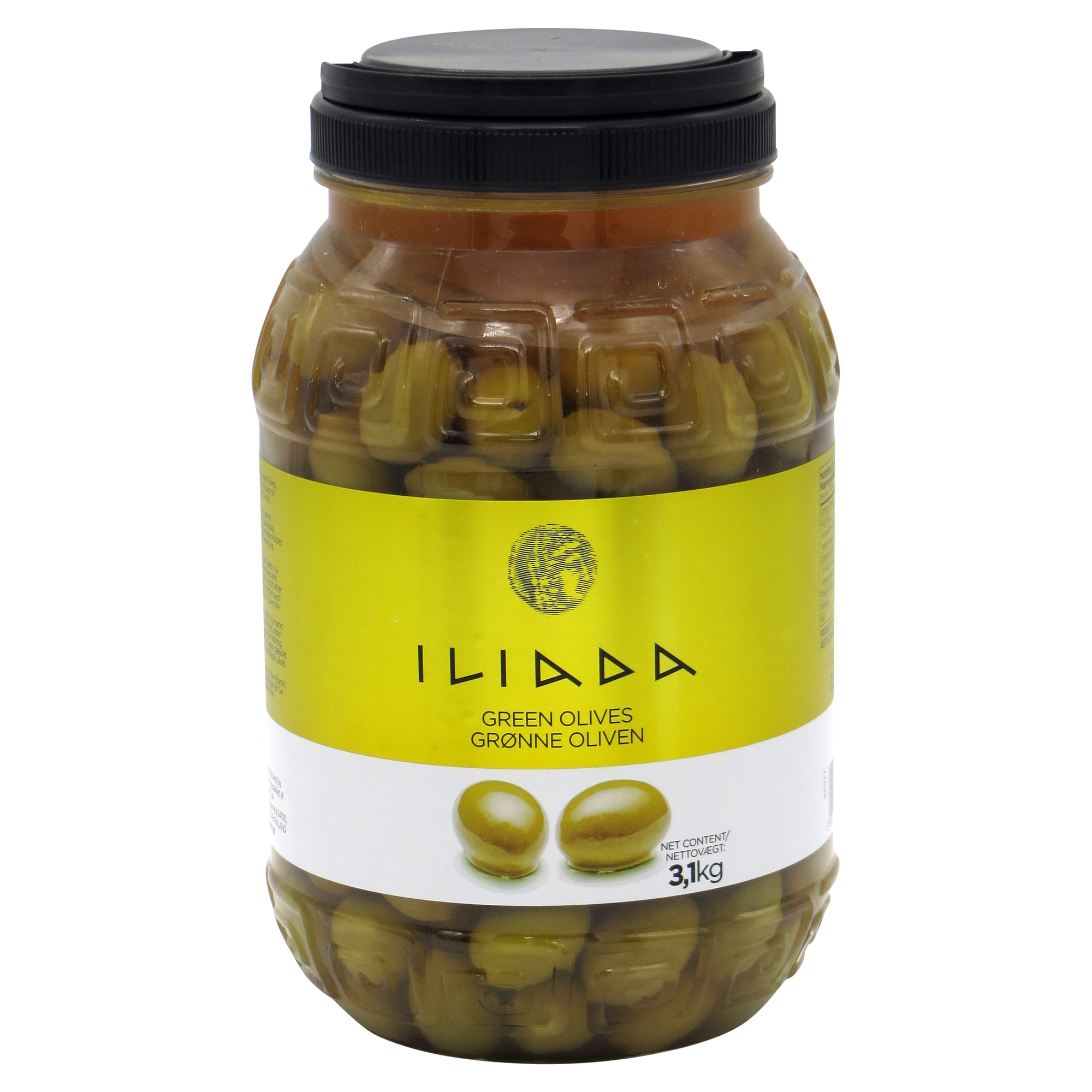 Green Whole Olives 'Iliada' 3kg (1.8kg NDW)