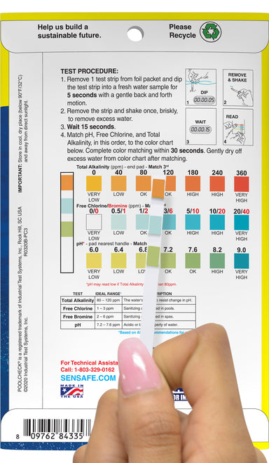 Pool Check® 3in1 Pool & Spa Test Strips
