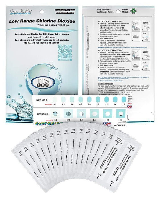 ITS Europe SenSafe® Low Range Chlorine Dioxide Check Eco Packs