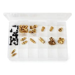 Brass Union & Clip Assortment Imperial (36 pieces)