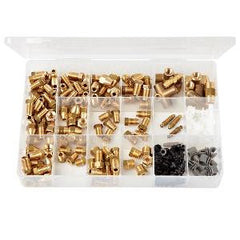 Brass Union & Clip Assortment Imperial & Metric (162 pieces)