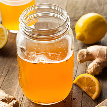 How do you make ginger kombucha from scratch?