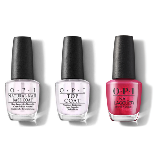OPI - Nail Lacquer Combo - Base, Top & 15 Minutes of Flame