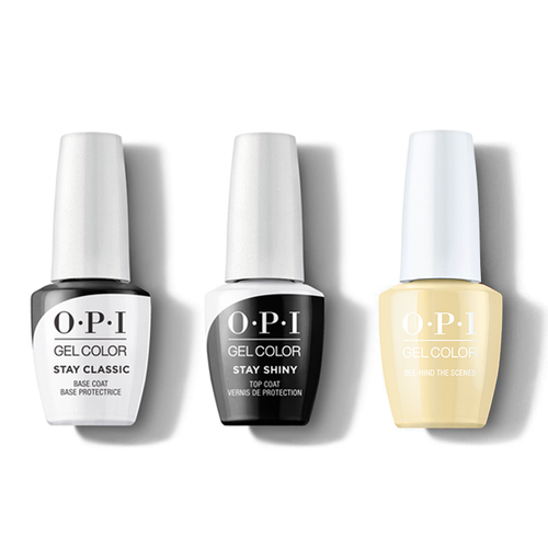 OPI - GelColor Combo - Stay Classic Base, Shiny Top & Bee-hind the Scenes