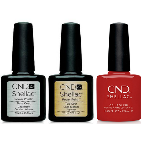 CND - Shellac Combo - Base, Top & Company Red