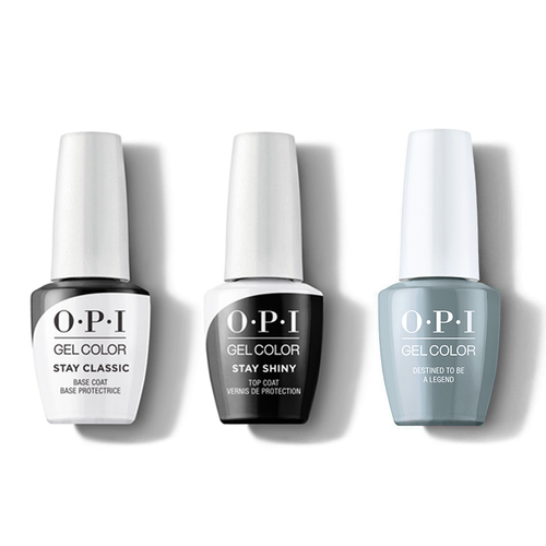 OPI - GelColor Combo - Stay Classic Base, Shiny Top & Destined to be a Legend