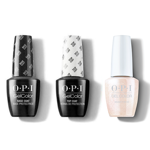 OPI - GelColor Combo - Base, Top & Naughty Or Ice?