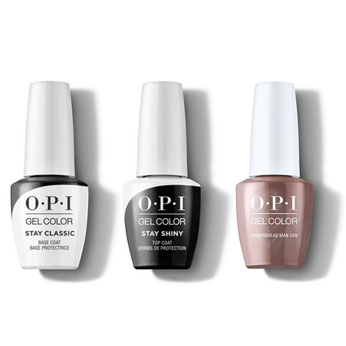 OPI - GelColor Combo - Stay Classic Base, Shiny Top & Gingerbread Man Can