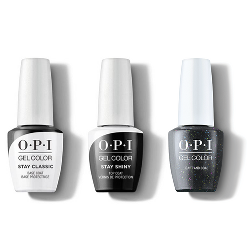 OPI - GelColor Combo - Stay Classic Base, Shiny Top & Heart And Coal