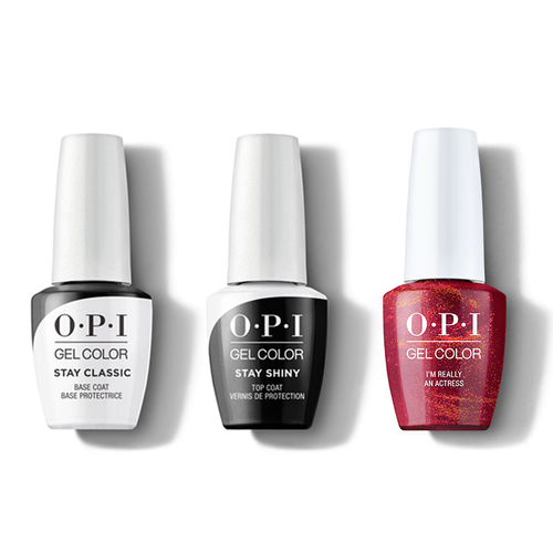 OPI - GelColor Combo - Stay Classic Base, Shiny Top & I'm Really an Actress