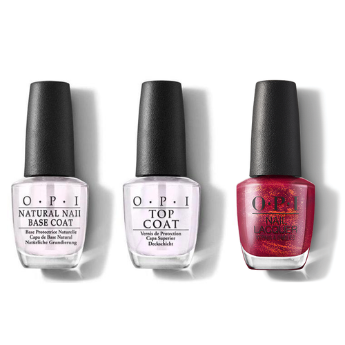 OPI - Nail Lacquer Combo - Base, Top & I'm Really an Actress