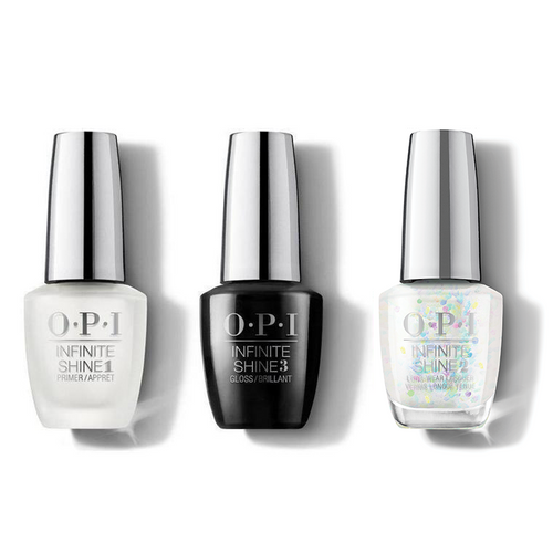 OPI - Infinite Shine Combo - Base, Top & All A'twitter In Glitter - #HRM48