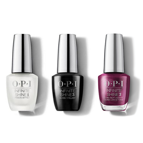 OPI - Infinite Shine Combo - Base, Top & Dressed To The Wines - #HRM39