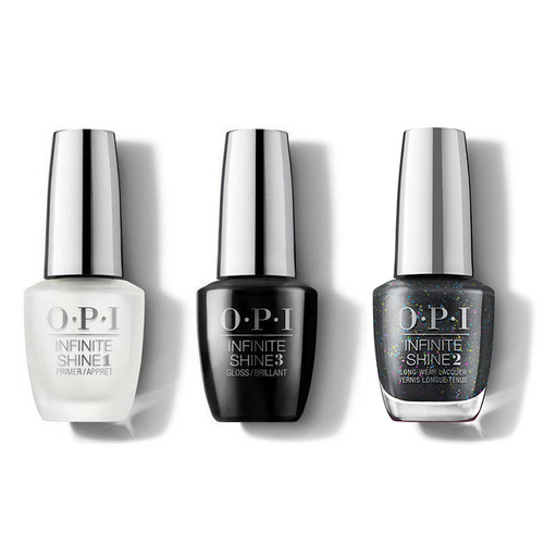 OPI - Infinite Shine Combo - Base, Top & Heart And Coal - #HRM47
