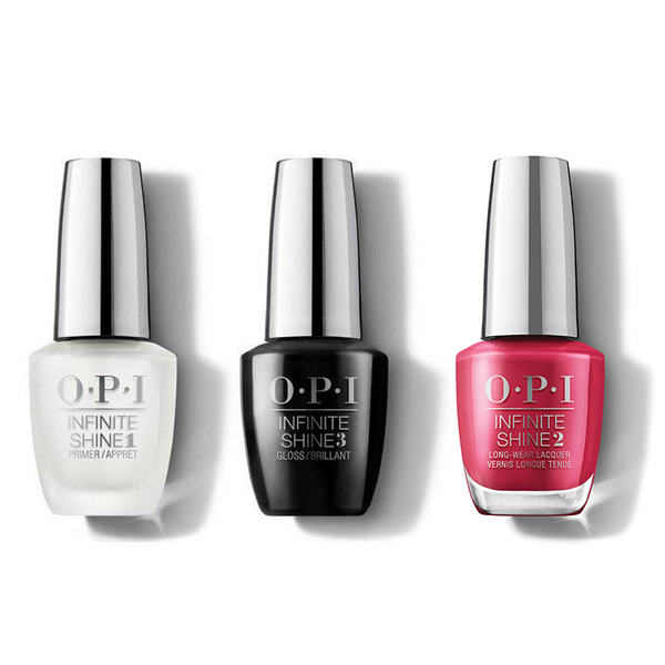 OPI - Infinite Shine Combo - Base, Top & Red-y For The Holidays - #HRM43