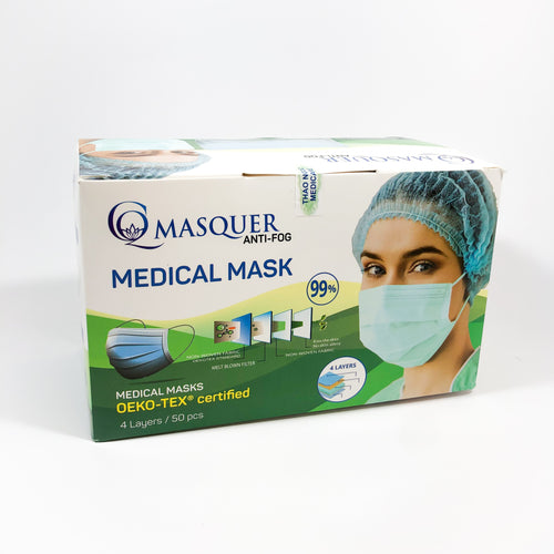 MEDICARE PRODUCT Blue Disposable Medical Mask 99 - Box of 50