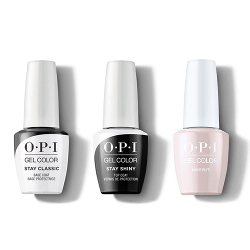 OPI - GelColor Combo - Stay Classic Base, Shiny Top & Movie Buff
