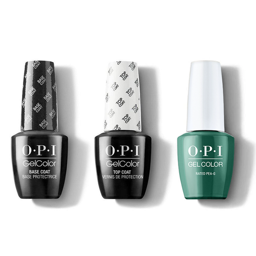 OPI - GelColor Combo - Base, Top & Rated Pea-G