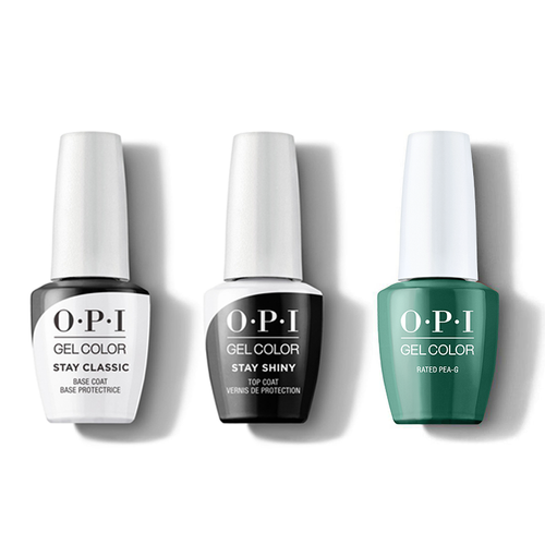 OPI - GelColor Combo - Stay Classic Base, Shiny Top & Rated Pea-G