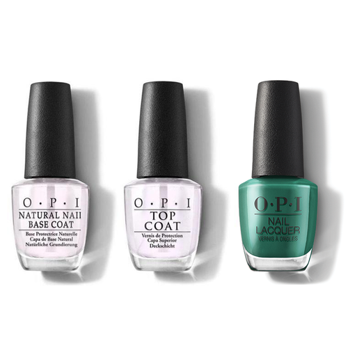 OPI - Nail Lacquer Combo - Base, Top & Rated Pea-G
